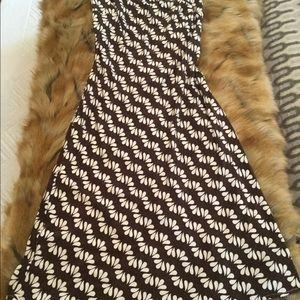 Milly strapless jersey knit midi dress